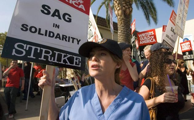 Writers Guild of America strike, Ellen Pompeo
