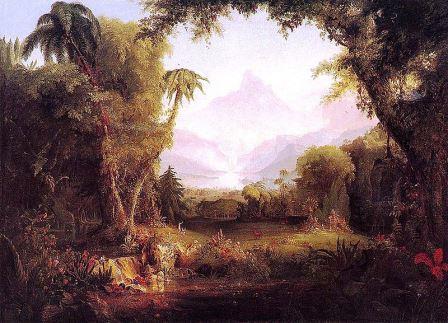 Taman surga, dalam lukisan tahun 1828