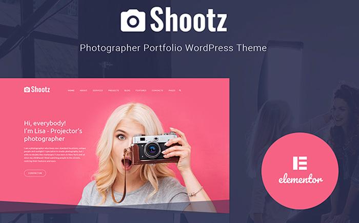 Shootz - Photographer Portfolio WordPress Theme best premium WordPress themes for your blog or website.