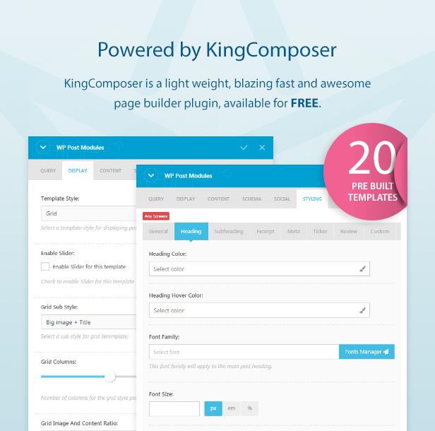 KingComposer addon