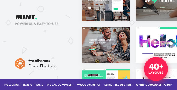 MINT V2.0.5 – CREATIVE MULTI-PURPOSE WORDPRESS THEME