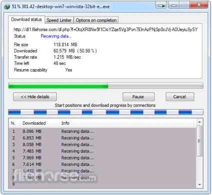 Internet Download Manager 6.3 Full en acción: descargando archivos de la web.