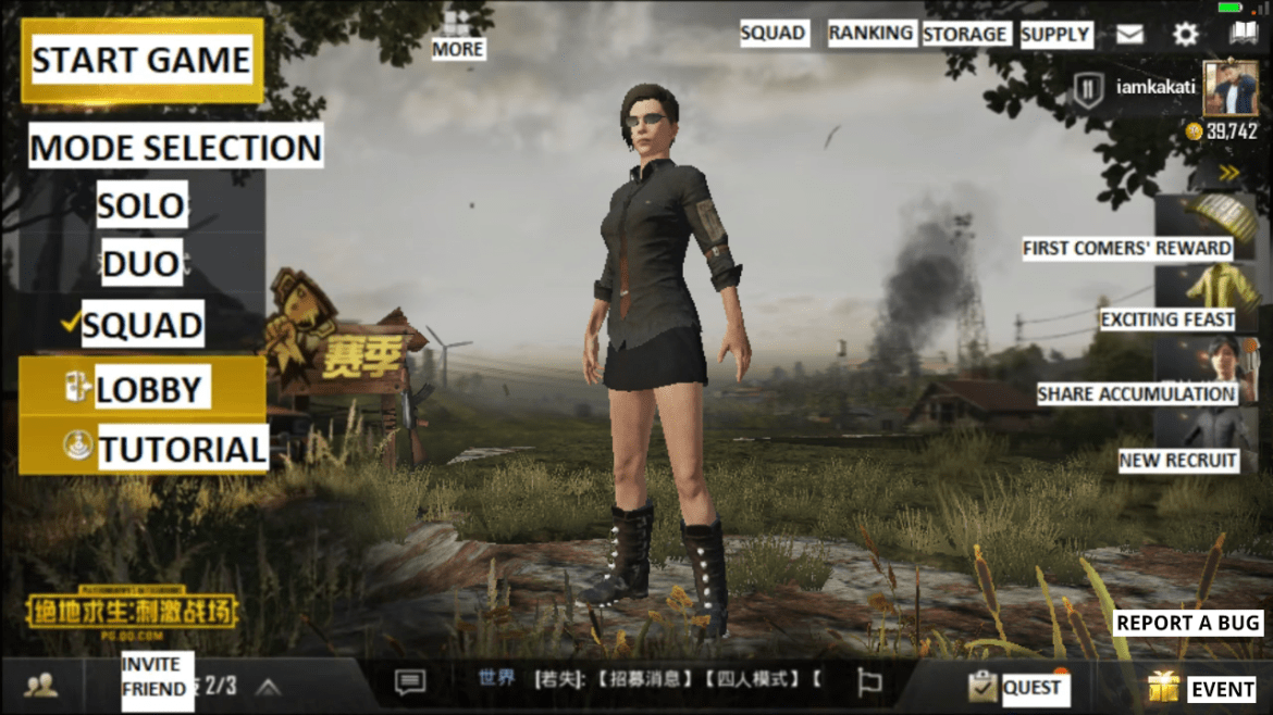 Android PUBG - Language Setting