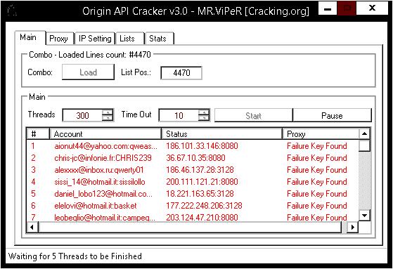 Origin API Cracker v3.1
