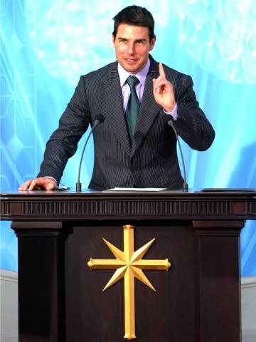 Tom Cruise dalam salah satu acara Scientology