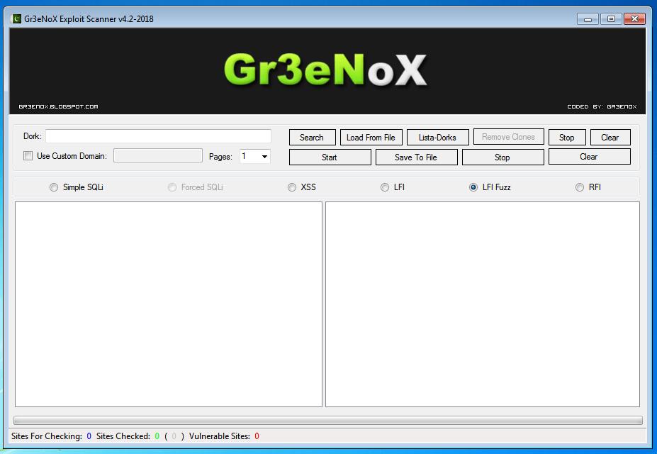 Gr3eNoX Exploit Scanner V4.2