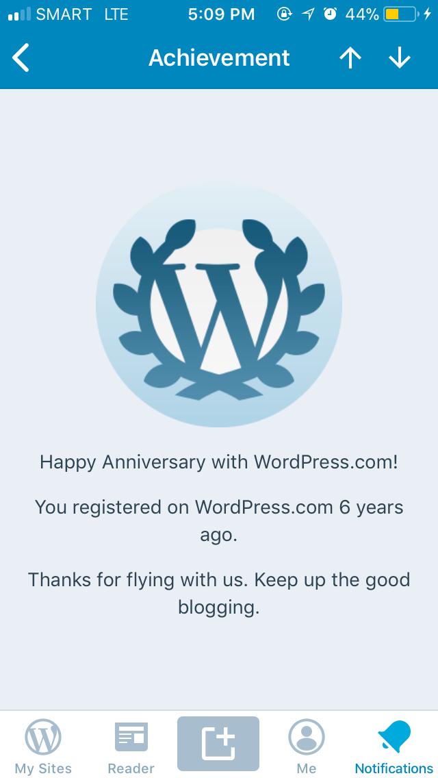 Happy 6 years to us WordPress