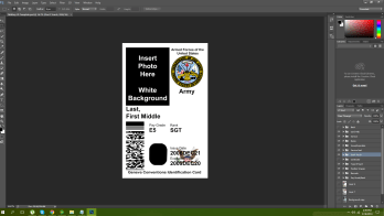 US Military ID Template