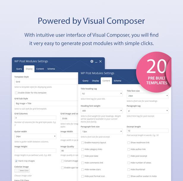 Visual Composer addon