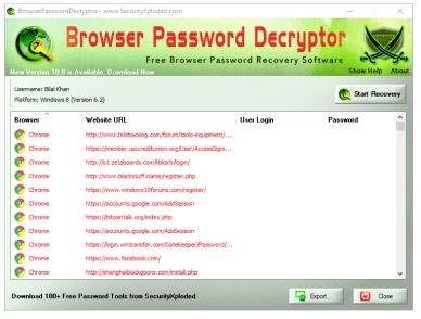 Browser Password Decryptor
