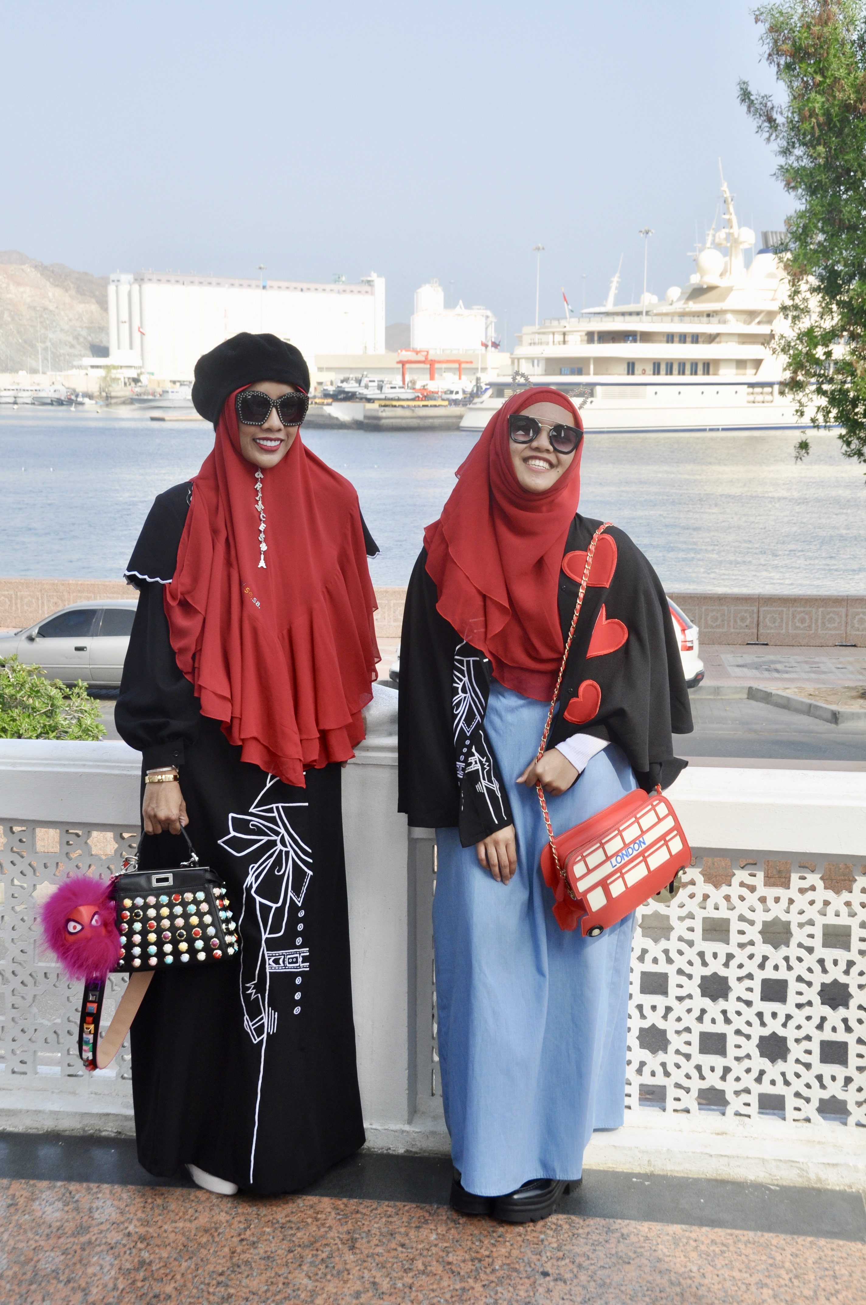 helloconchita conchita mom daughter hijab hijaber fashion style sunshine red