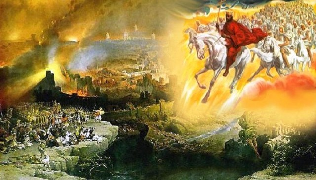 Impian tentang Ratu Adil. Lukisan imajinasi yang menggambarkan kedatangan Yesus untuk memberikan keadilan di dunia.