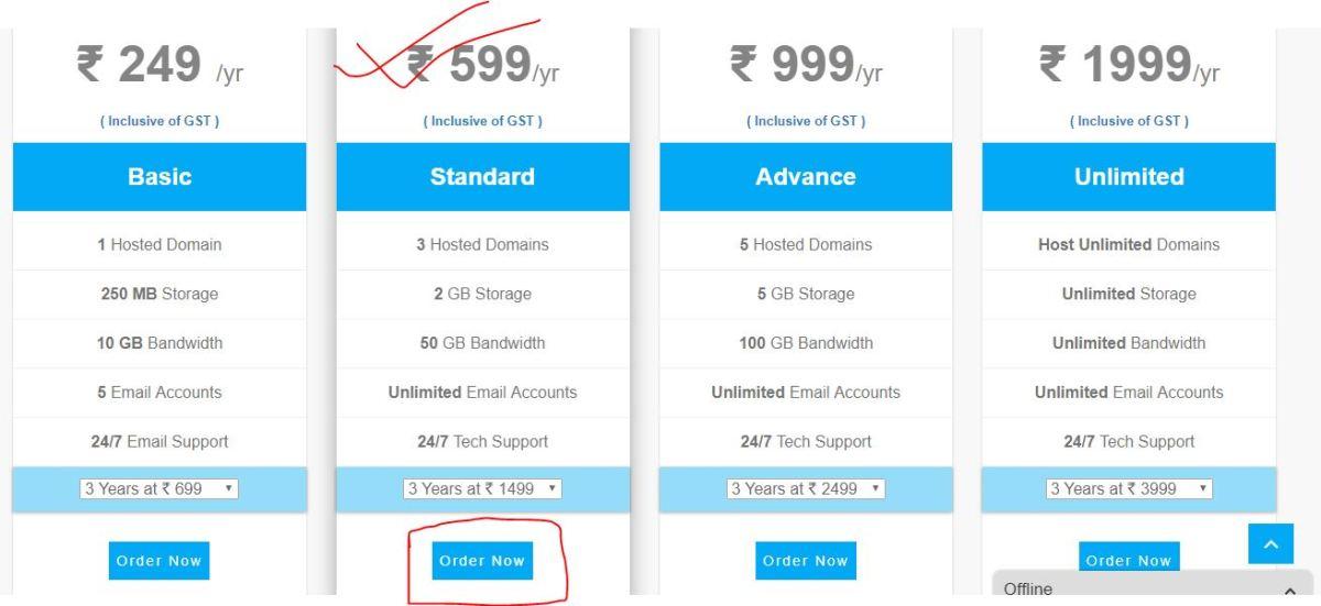 get web hosting for your blog, how to blog, blogging india