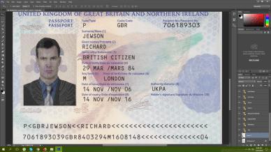 UK PASSPORT PSD Template