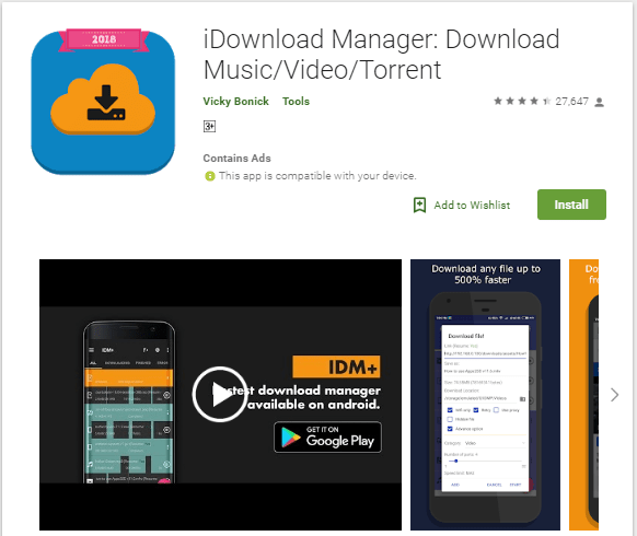 best android download manager - ADM pro download free