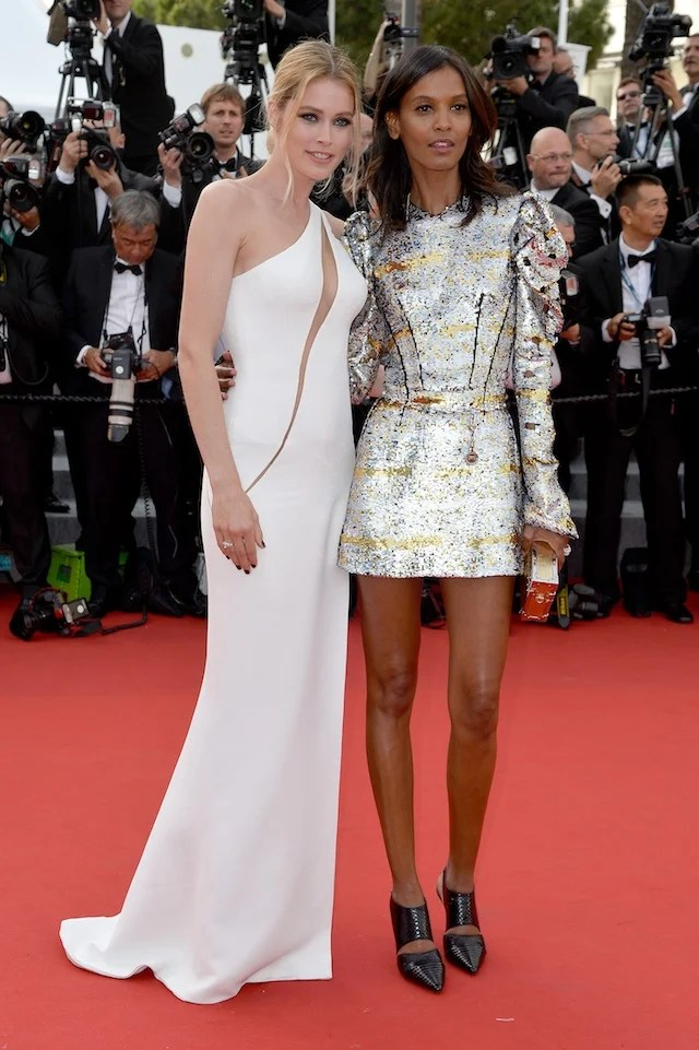 "CANNES, FRANCE - MAY 13:  Models Doutzen Kroes and Liya Kebede attend the opening ceremony and premiere of ""La Tete Haute"" (""Standing Tall"") during the 68th annual Cannes Film Festival on May 13, 2015 in Cannes, France.  (Photo by Pascal Le Segretain/Getty Images)"