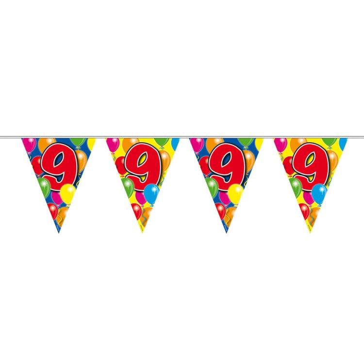 9 jaar slinger ballonnen - 10 meter