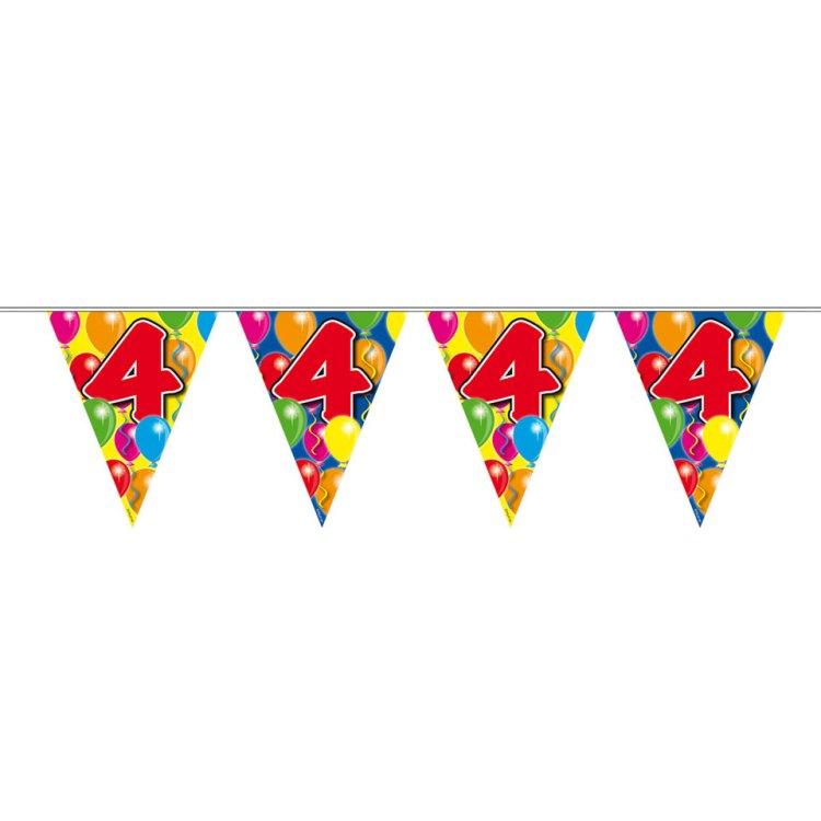 4 jaar slinger ballonnen - 10 meter