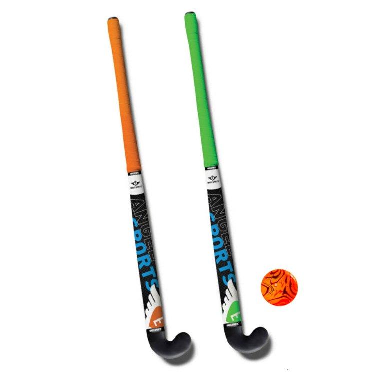 Angel Sports hockeyset - 30 inch - oranje/groen