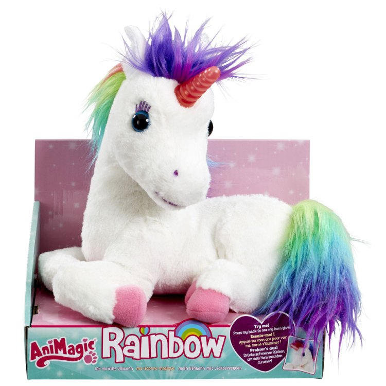 AniMagic Rainbow My Glowing eenhoorn pluche