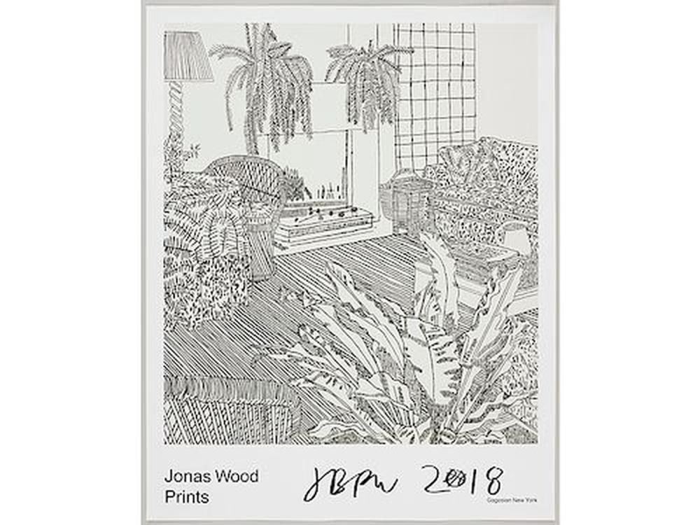 jonas wood prints gagosian poster signed jonas wood