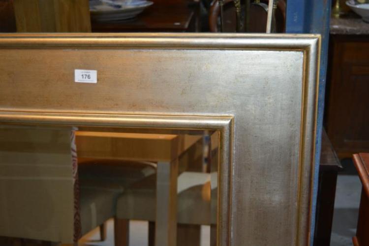 Modern Rectangular Gold & Silver Wall Mirror