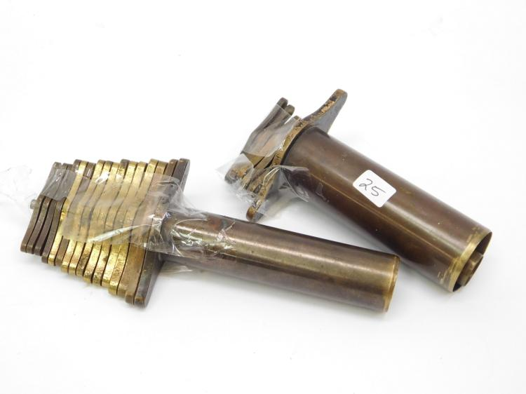 Antique Brass Apothecary Bottle Cork Cutter Lot Of 23