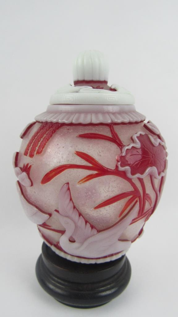 Qing Dynasty Peking Glass Ginger Jar