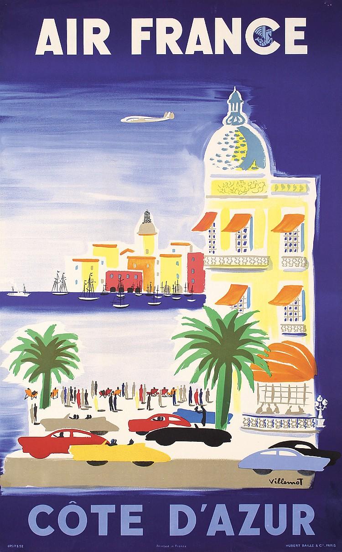 Air France - Cote d´Azur, Bernhard Villemot, 1952