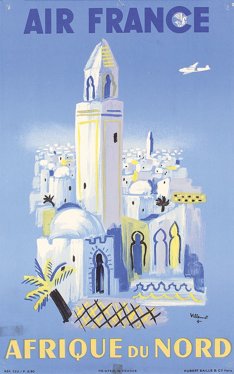 Air France - Afrique du Nord, Bernhard Villemot, 1950