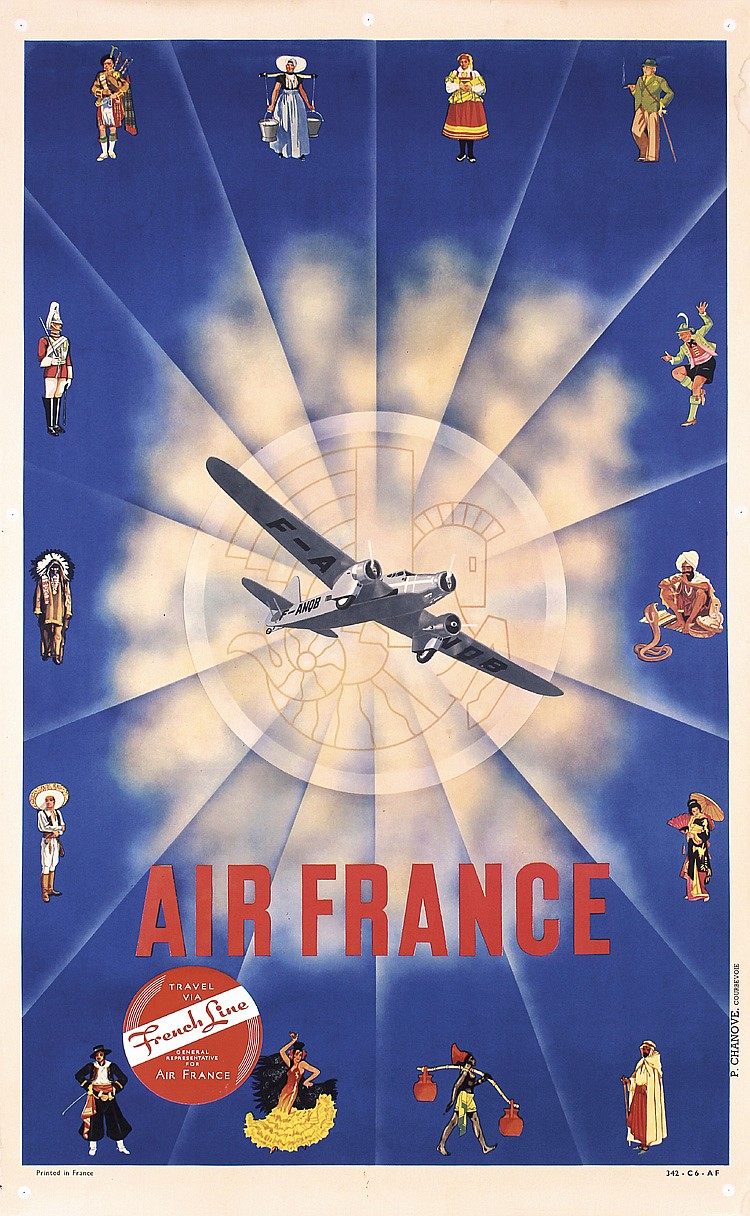 More Air France Posters From 1930s To The 1950s