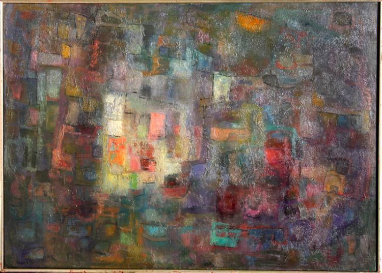 Purple Geometric Abstract Art