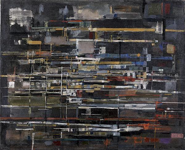 Maria Helena Vieira da Silva (1908-1992) Hiver, 1951 Huile sur toile Signée et datée 51 en bas à droite 81 x 100 cm