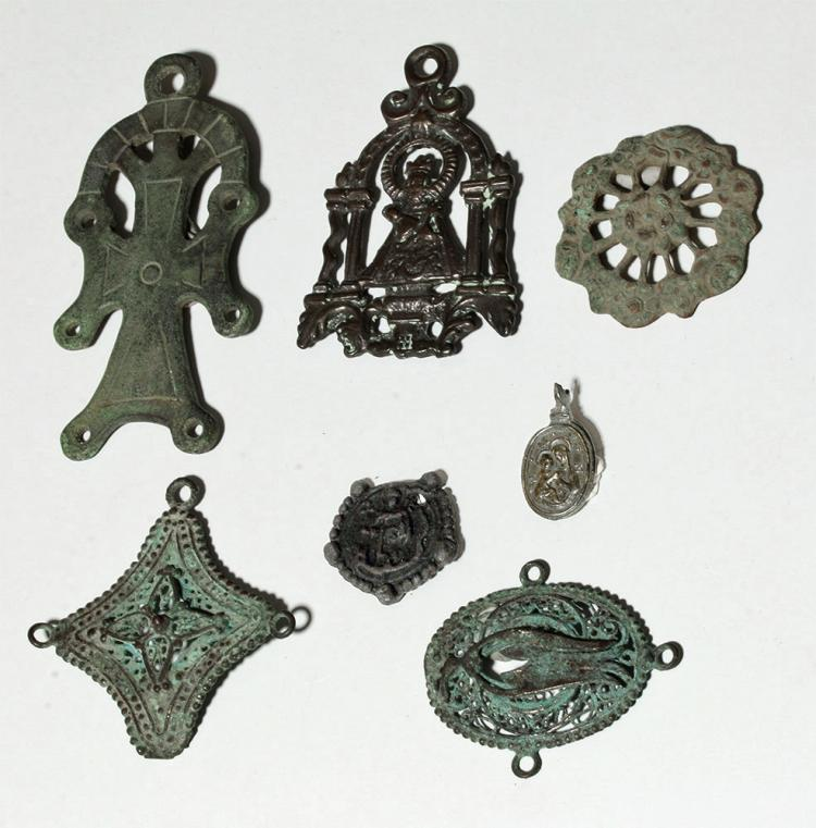 Group Of 7 Byzantine Medieval Religious Pendants