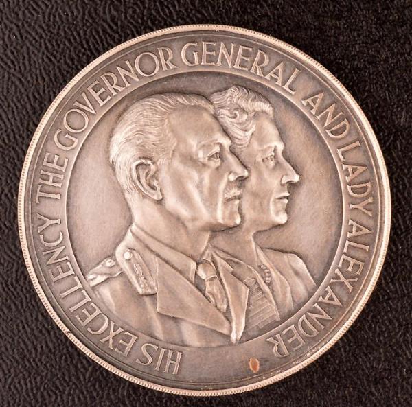 GOVERNOR GENERAL MEDAL, EARL ALEXANDER, AR