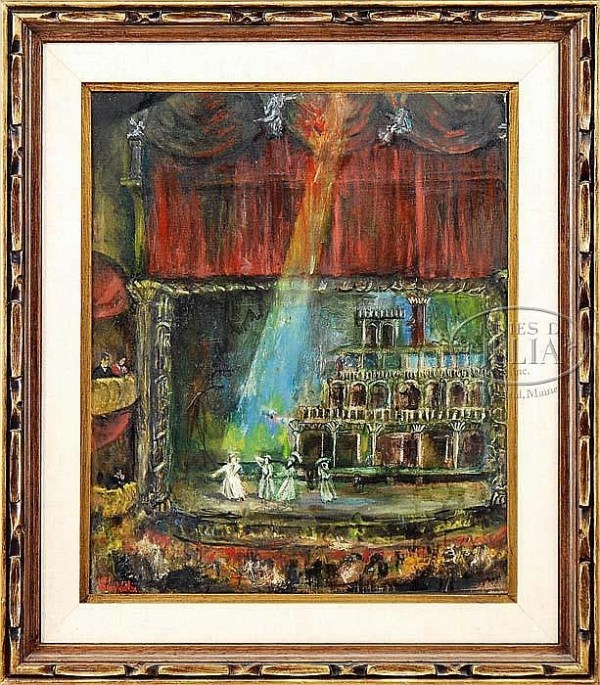 HARRY WALKER (American, Mid 20th Century) THE STAGE SHOW.
