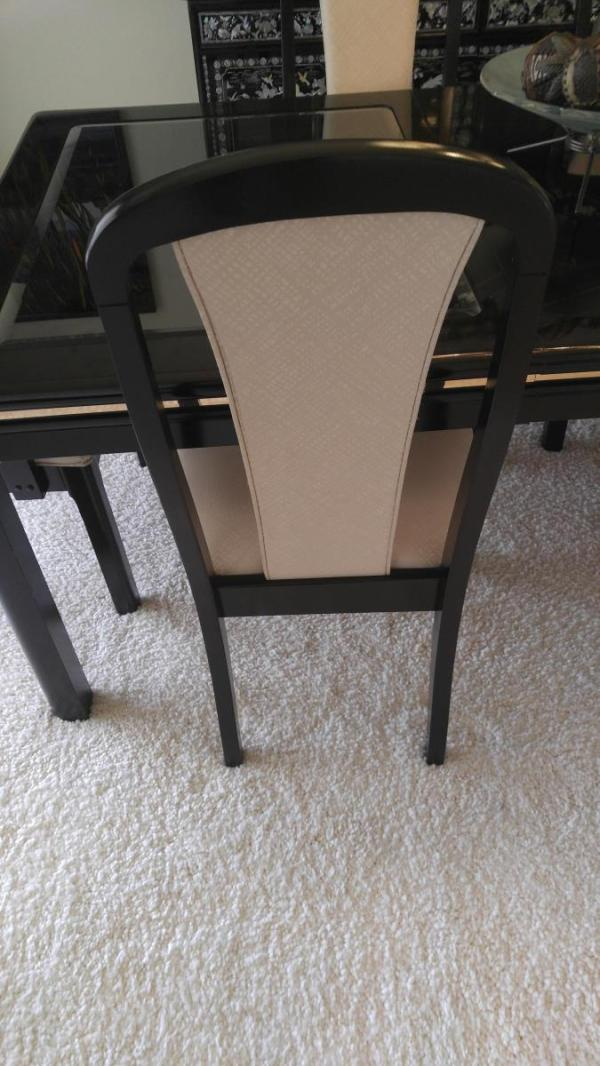 Broyhill 7Pc. Glass Inlay Dining Table Set