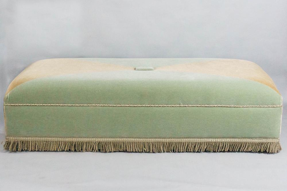 large modern velvet upholstered ottoman