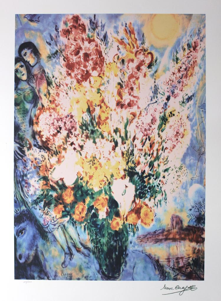 Marc Chagall Limited Edition Lithograph Signed Amp Numbered