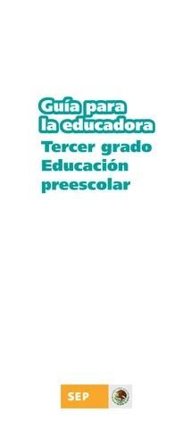 Guía para la Educadora 3er. Grado