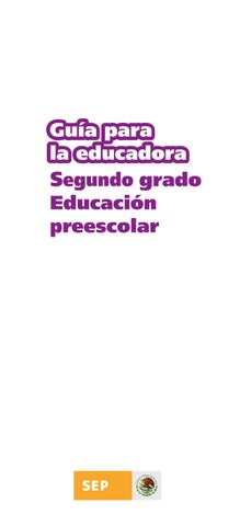Guia de la Educadora 2do. Grado
