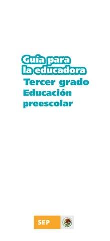 Guia de la Educadora 3er. Grado