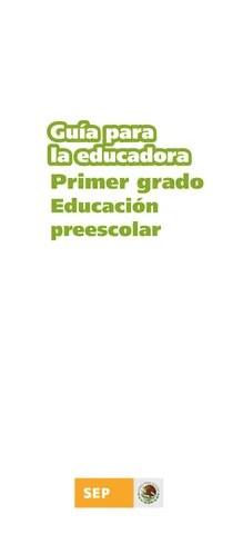 Guía de la Educadora 1er. Grado