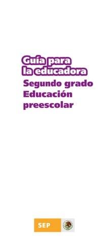 Guía de la Educadora 2do. Grado