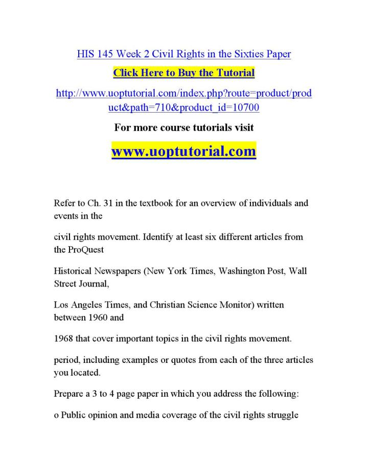 summary of the civil rights movement essay Read this american history essay and over 88,000 other research documents civil rights movement civil rights movement the civil rights movement gave rise.