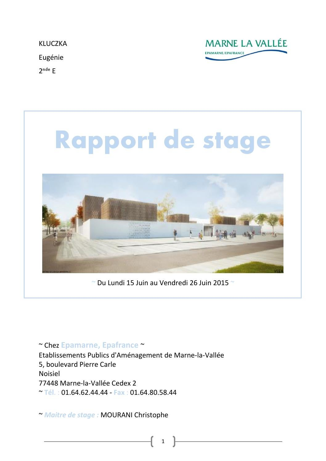 Rapport De Stage Epa By Laure Kluczka Issuu