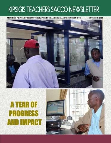 Kipsigis Teachers Sacco newsletter 2011