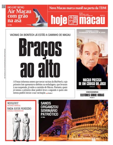 Hoje Macau 01 ABRIL 2021 #4741