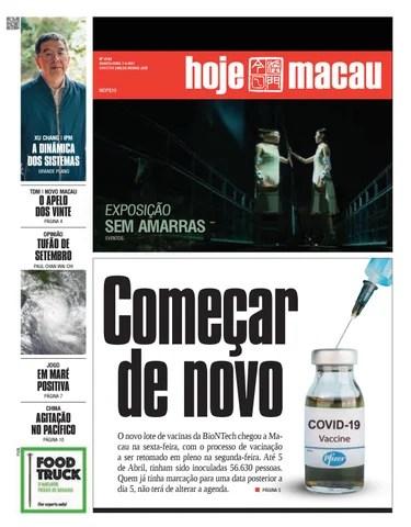 Hoje Macau 07 ABRIL 2021 #4742