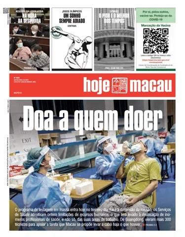 Hoje Macau 06 AGOSTO 2021 #4826